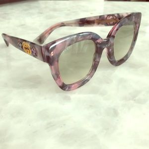 Gucci pink and purple embellished sunglasses